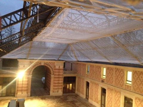 Réfection toiture travaux après sinistre pose de filets
