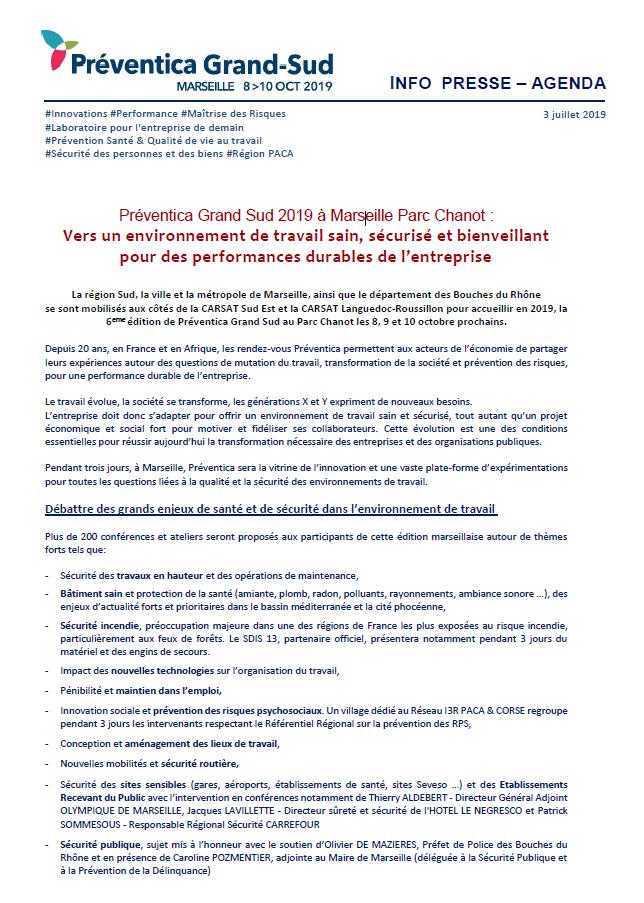 France Filets Communiqué de presse Salon Préventica Marseille 1