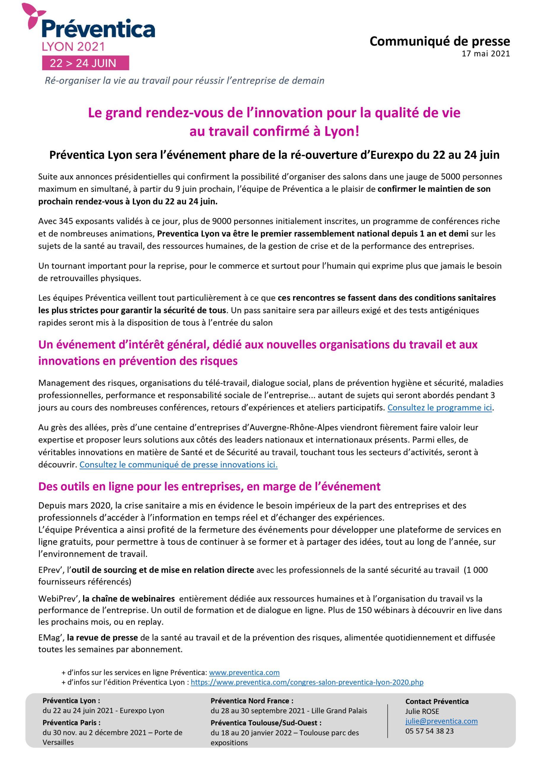 Salon Préventica Lyon Eurexpo 2021